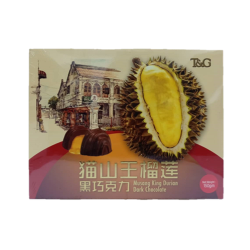 TG MUSANG KING DURIAN DARK CHOCOLATE 150G