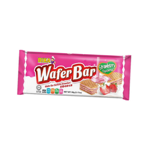 bika strawberry wafer bar