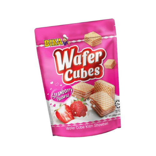bika strawberry wafer cube