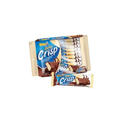 boka crisp wafer bar milk