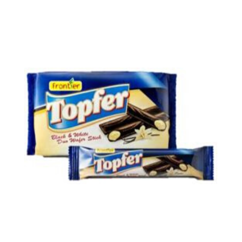 topfer black & whote duo wafer sticks