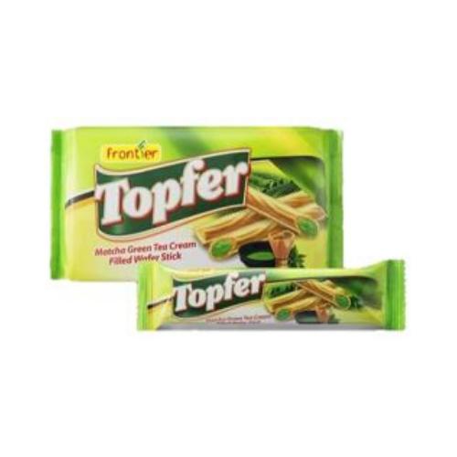 topfer matcha green tea wafer sticks